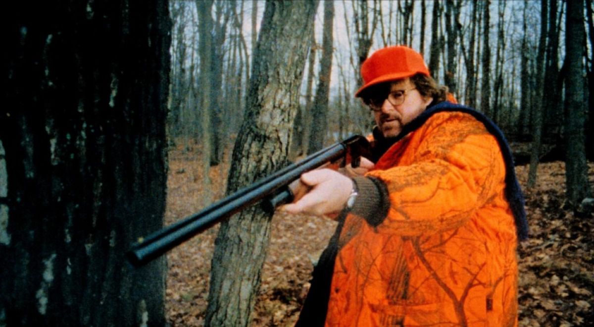 bowling for columbine film by michael moore essay Michael moore's narrative technique of comparing serious issues of outrage with more general issues is quite prominent for example the general message of the national rifle association, the number one pro-gun organisation in the united states and the incident columbine high school.