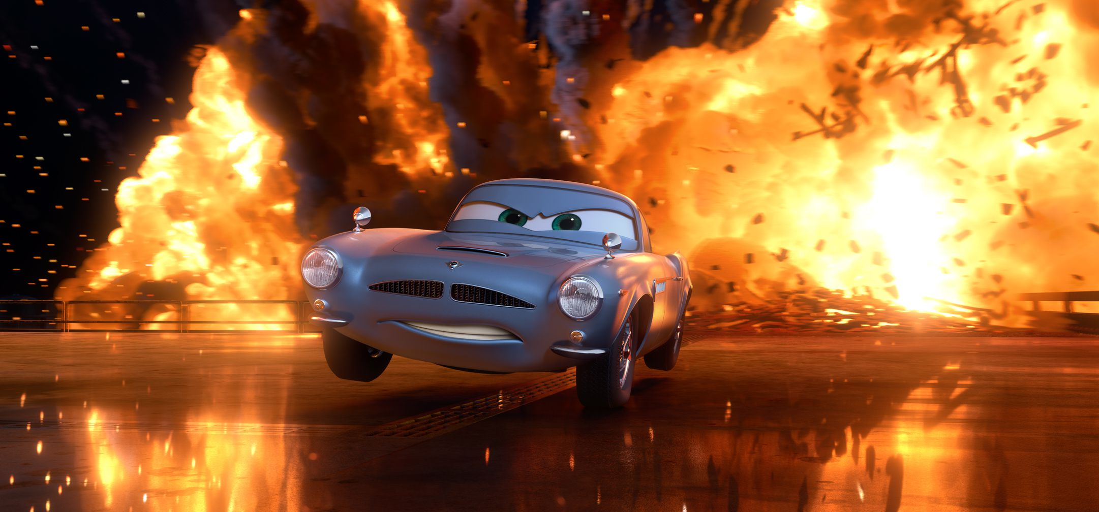 An image from Cars 2
