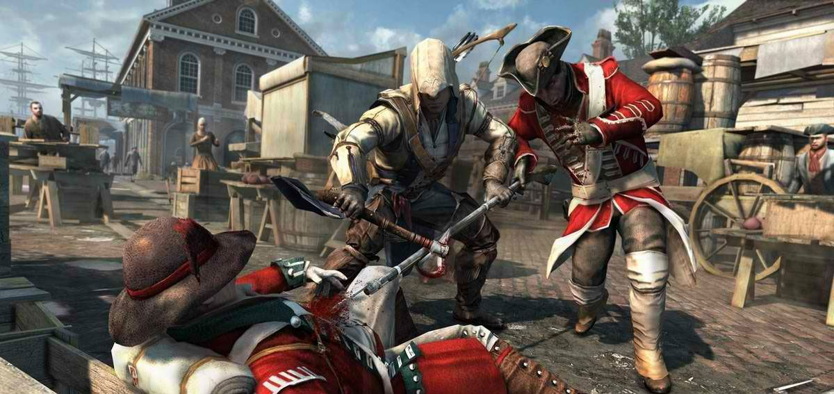 Publicity still for Assassin's Creed III