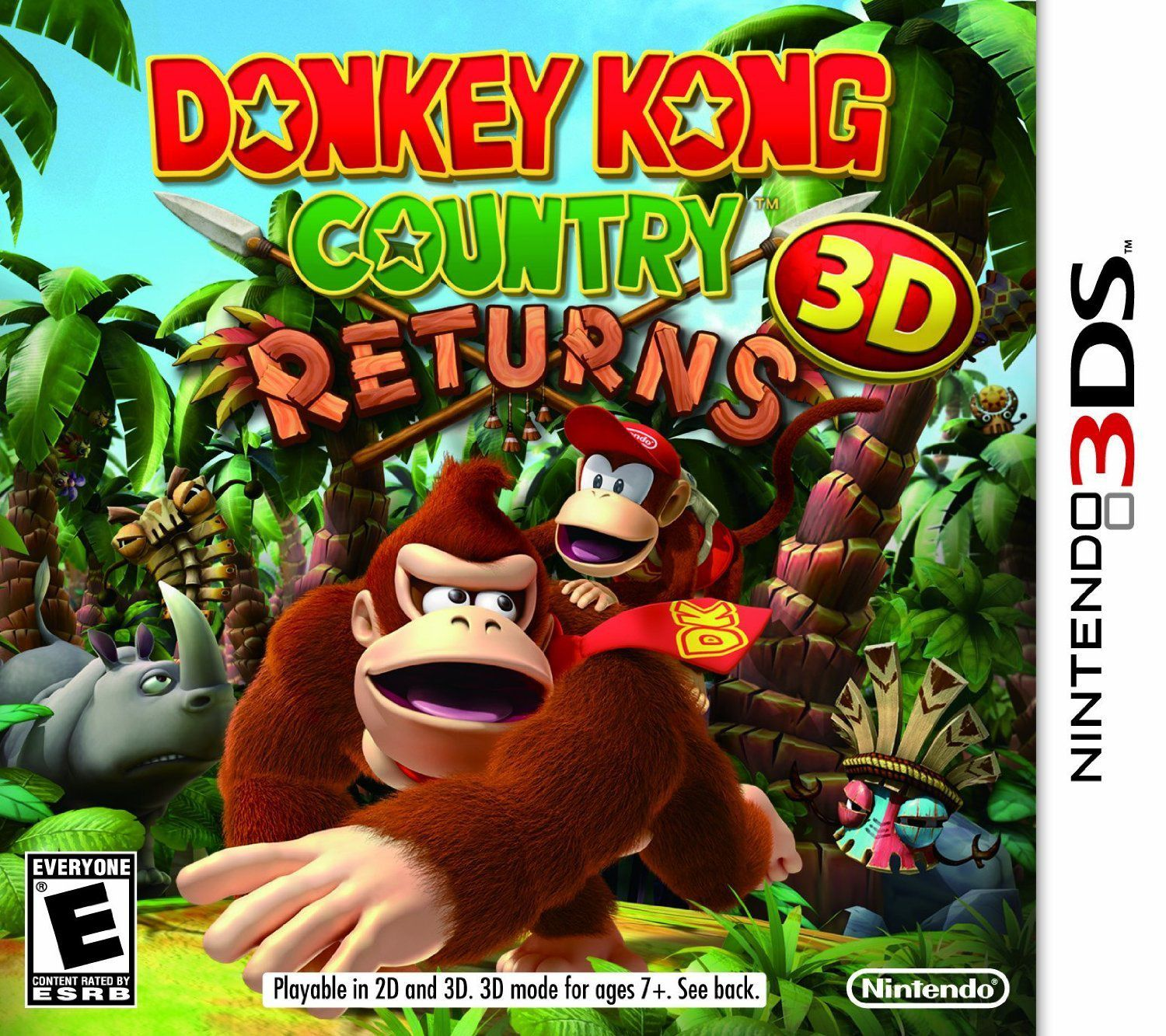 Publicity still for Donkey Kong Country Returns 3D