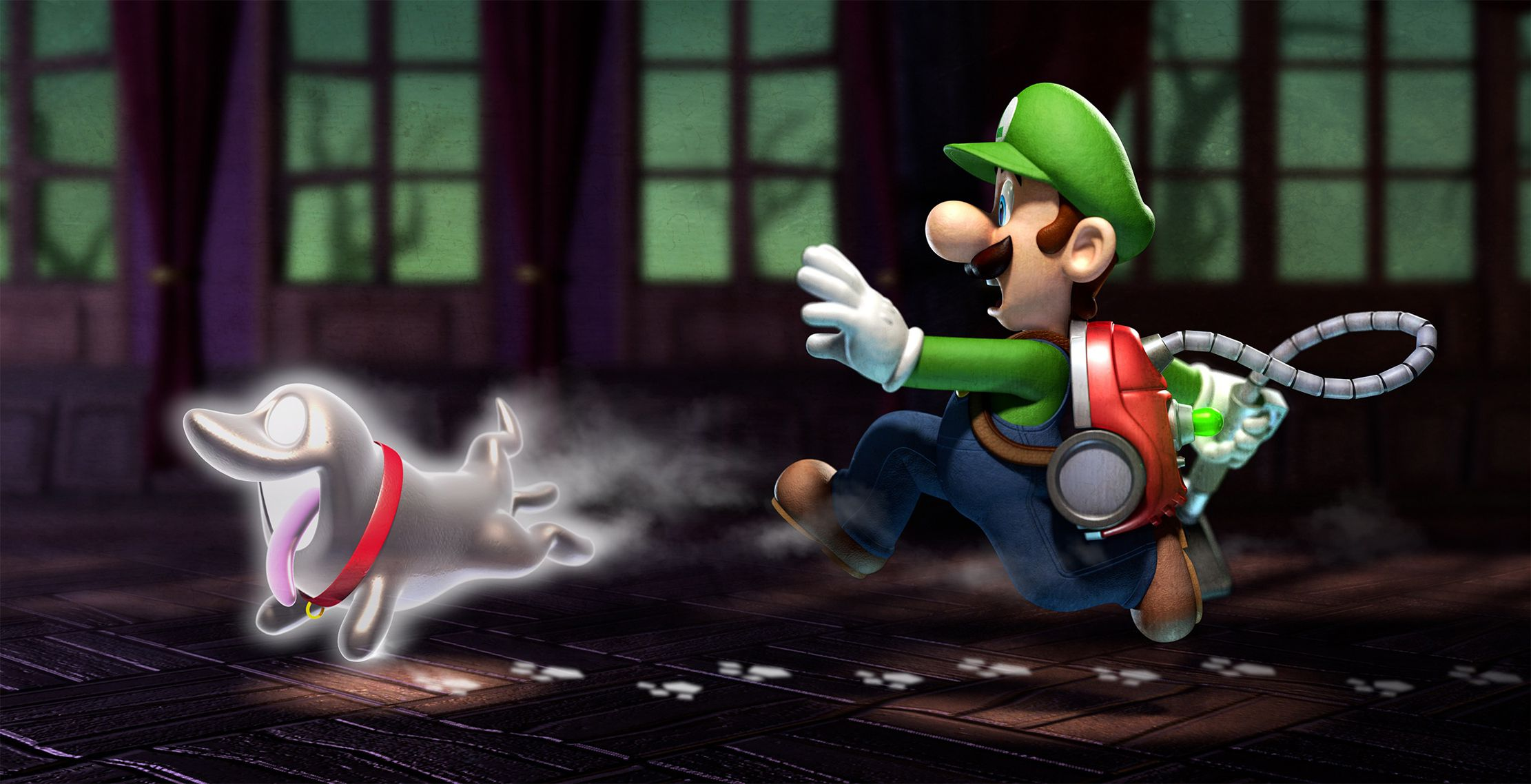 Publicity still for Luigi's Mansion: Dark Moon