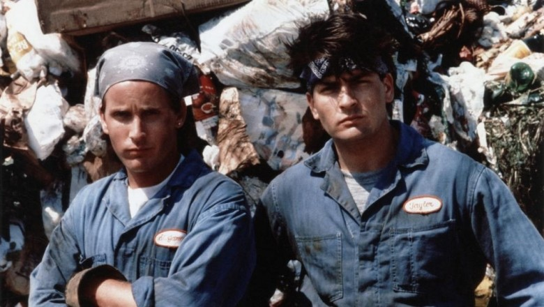 Emilio Estevez And Charlie Sheen Men At Work