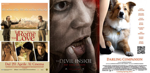 To Rome with Love, The Devil Inside, Darling Companion
