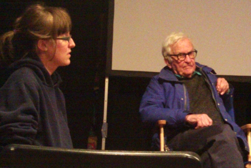 Laura Coxson and Albert Maysles