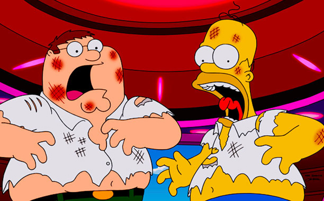 The simpsons family guy crossover is one of the most