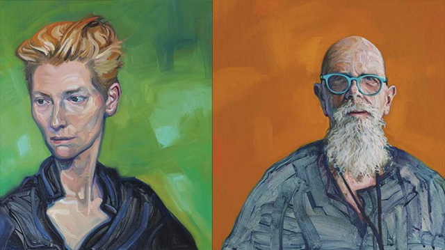Tilda Swinton and Chuck Close
