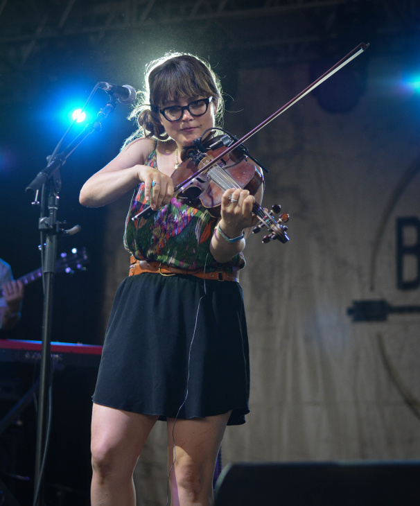 Sara Watkins at Bonnaroo | Photo by Chris Jorgensen