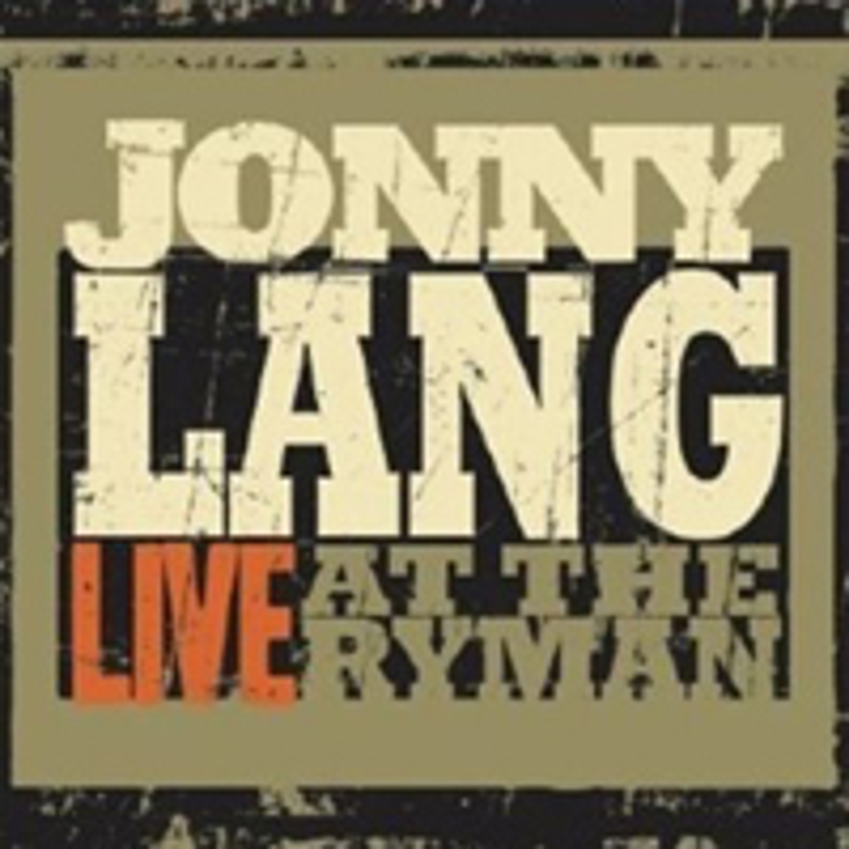 Jonny Lang, Live at the Ryman