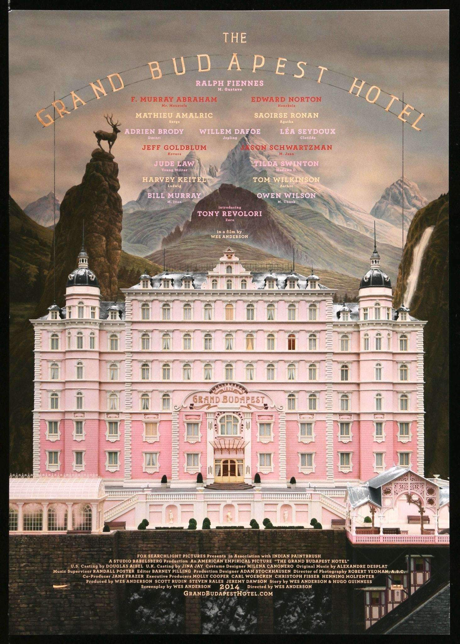 Poster and Trailer Drop for Wes Anderson's The Grand Budapest Hotel