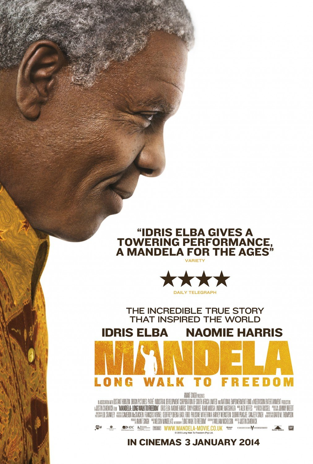 Poster Lab: Mandela: Long Walk to Freedom, Which Apparently Won't Be Up for a Makeup Oscar