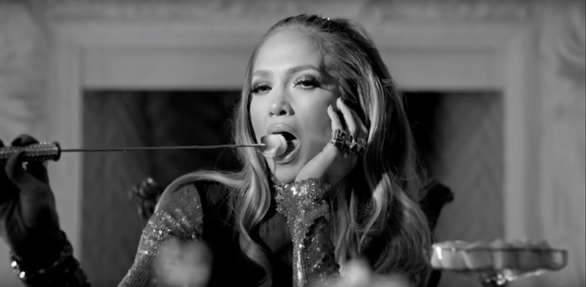 "Jennifer Lopez, Cardi B, and DJ Khaled Get Lit in ""Dinero"" Music Video"