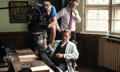 Florian Henckel von Donnersmarck on the set of Never Look Away