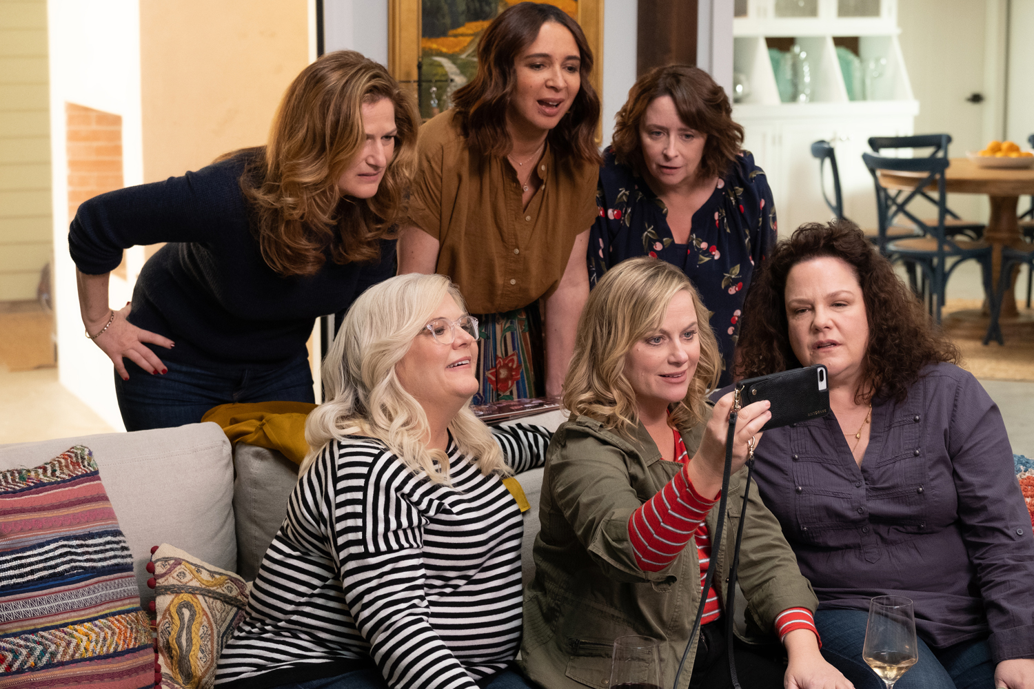 fbcdede74 Review: Amy Poehler's Wine Country Tries to Skirt by on Too Little ...